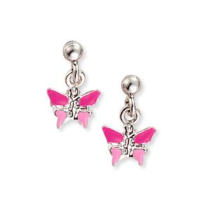 Scout Kinderschmuck Ohrringe Schmetterling pink