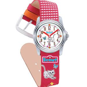 "Scout Kinder-Armbanduhr aus der Schulranzenserie ""Lovely Cat"""