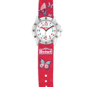 "Scout Kinder-Armbanduhr des Schulranzen-Modells ""Sweet Butterfly"""