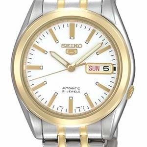 Seiko Automatic Herren-Armbanduhr mit Goldauflage