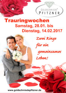 Trauring-Aktion-Plakat rot